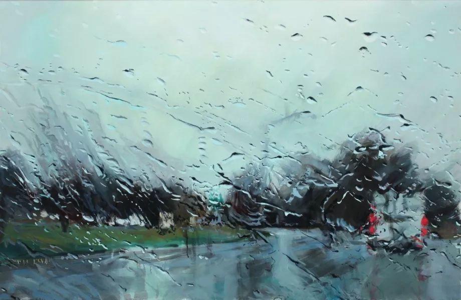 朦胧雨景,Karen Woods绘画作品插图19