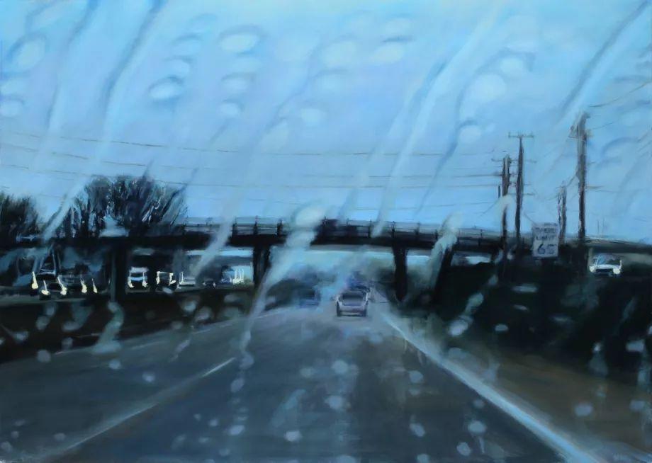 朦胧雨景,Karen Woods绘画作品插图21