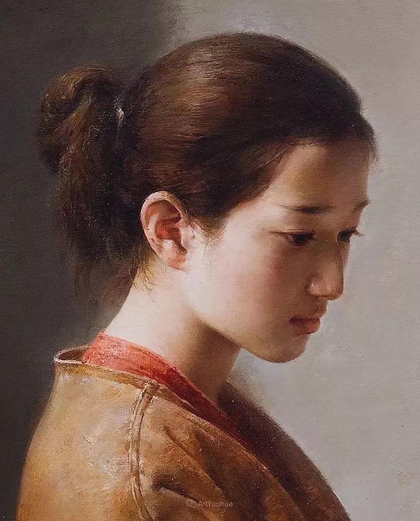 古典的纯净之美,付胜辉写实油画人物插图5