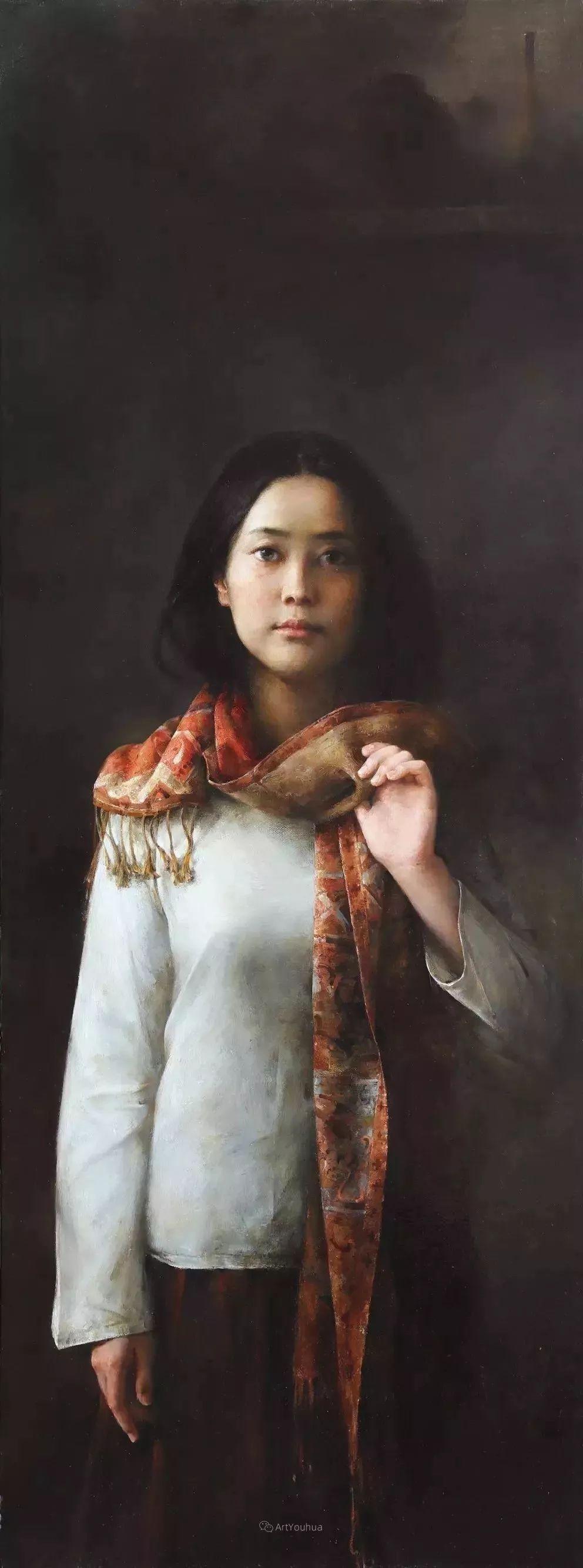 古典的纯净之美,付胜辉写实油画人物插图11