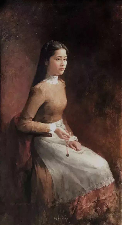 古典的纯净之美,付胜辉写实油画人物插图17