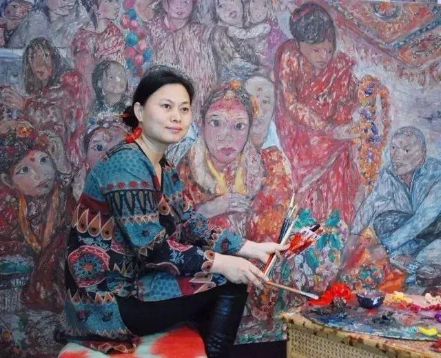 她用24年书写从村姑到画家的传奇,作品被瑞典国王、法国总统收藏插图7