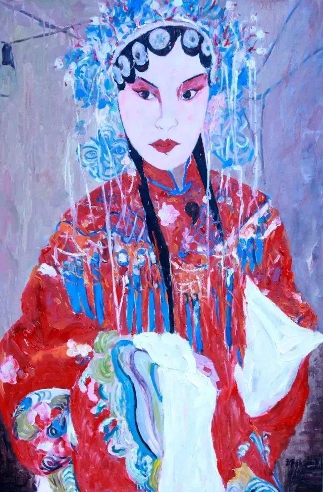 她用24年书写从村姑到画家的传奇,作品被瑞典国王、法国总统收藏插图63