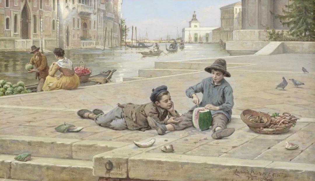 描绘市井妇女和儿童的生活景象插图4