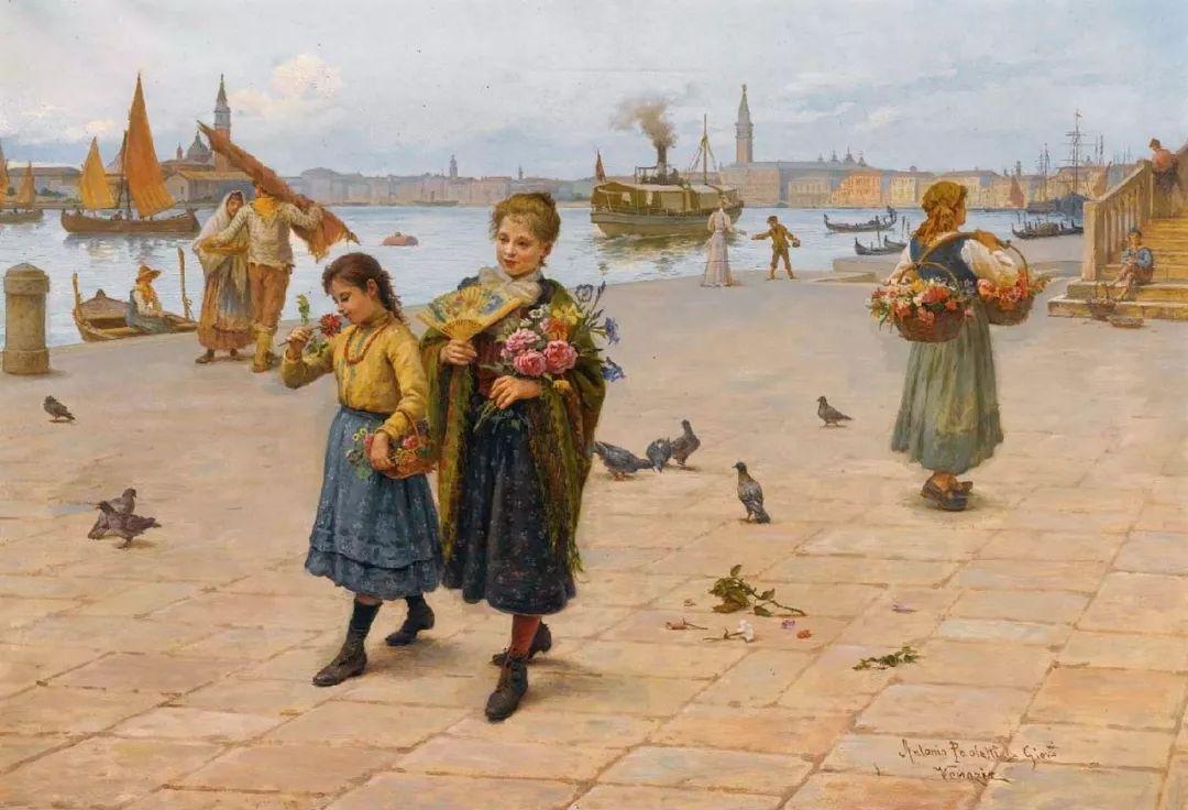 描绘市井妇女和儿童的生活景象插图9
