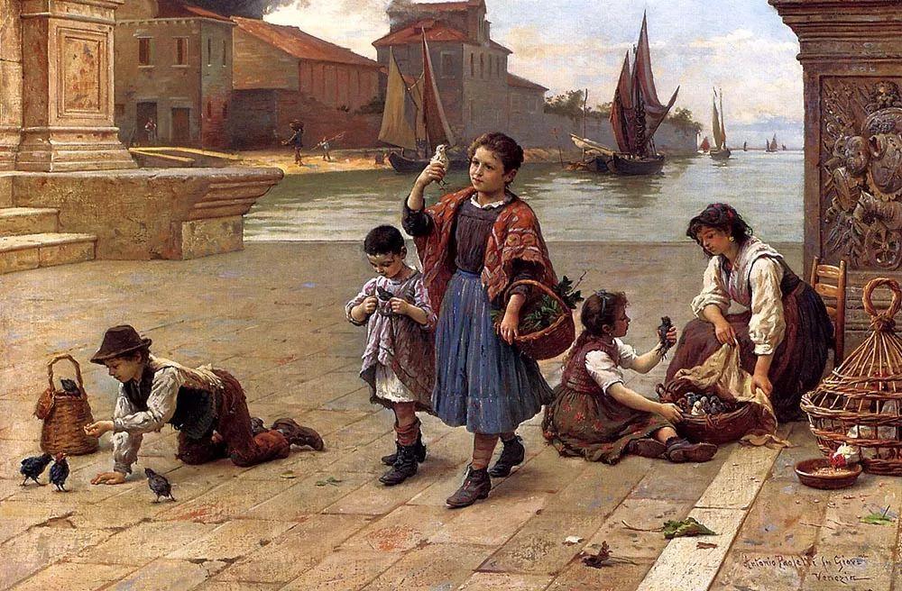 描绘市井妇女和儿童的生活景象插图23
