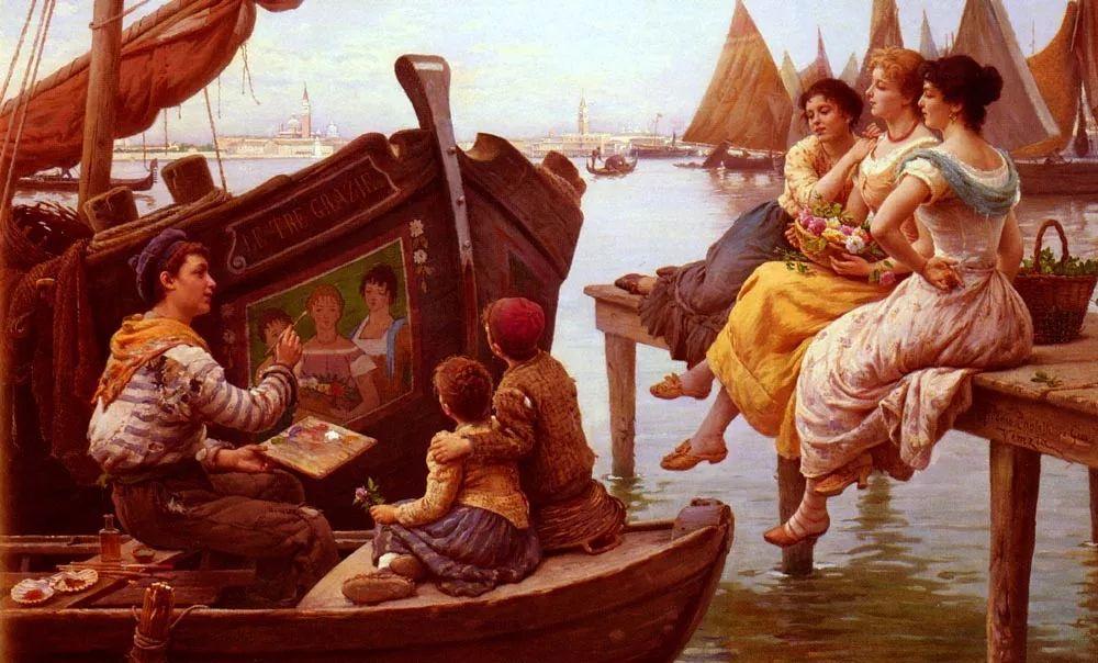 描绘市井妇女和儿童的生活景象插图24