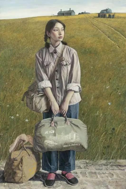 油画中最美女知青插图15