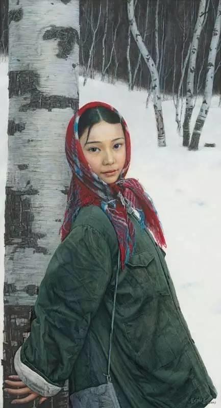 油画中最美女知青插图27