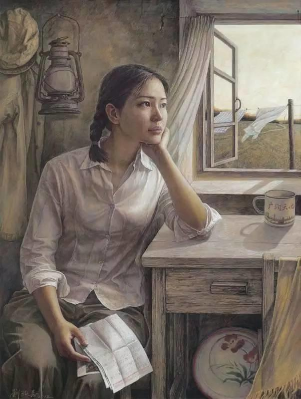 油画中最美女知青插图33