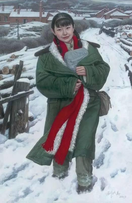 油画中最美女知青插图37