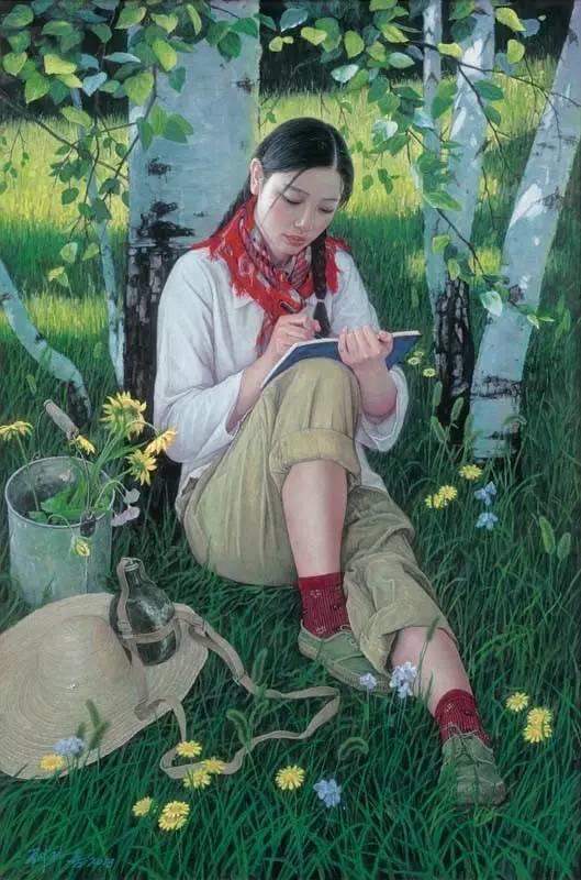 油画中最美女知青插图39