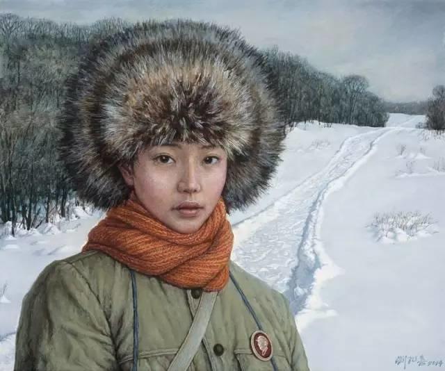 油画中最美女知青插图45