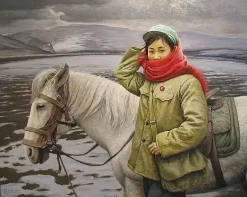 油画中最美女知青插图83