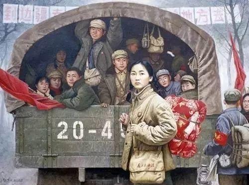 油画中最美女知青插图103
