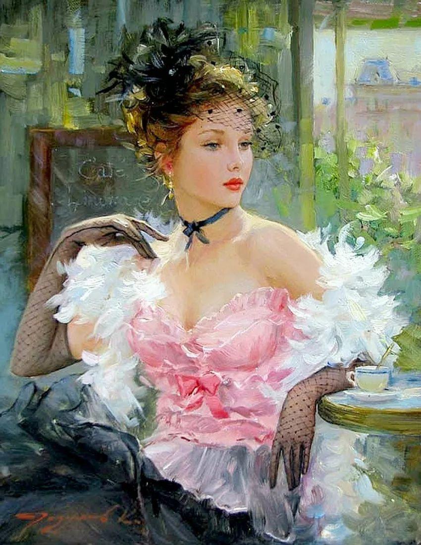 三位画家对女性的美诠释:或温婉含蓄,或妩媚娇艳,或律动健康插图1