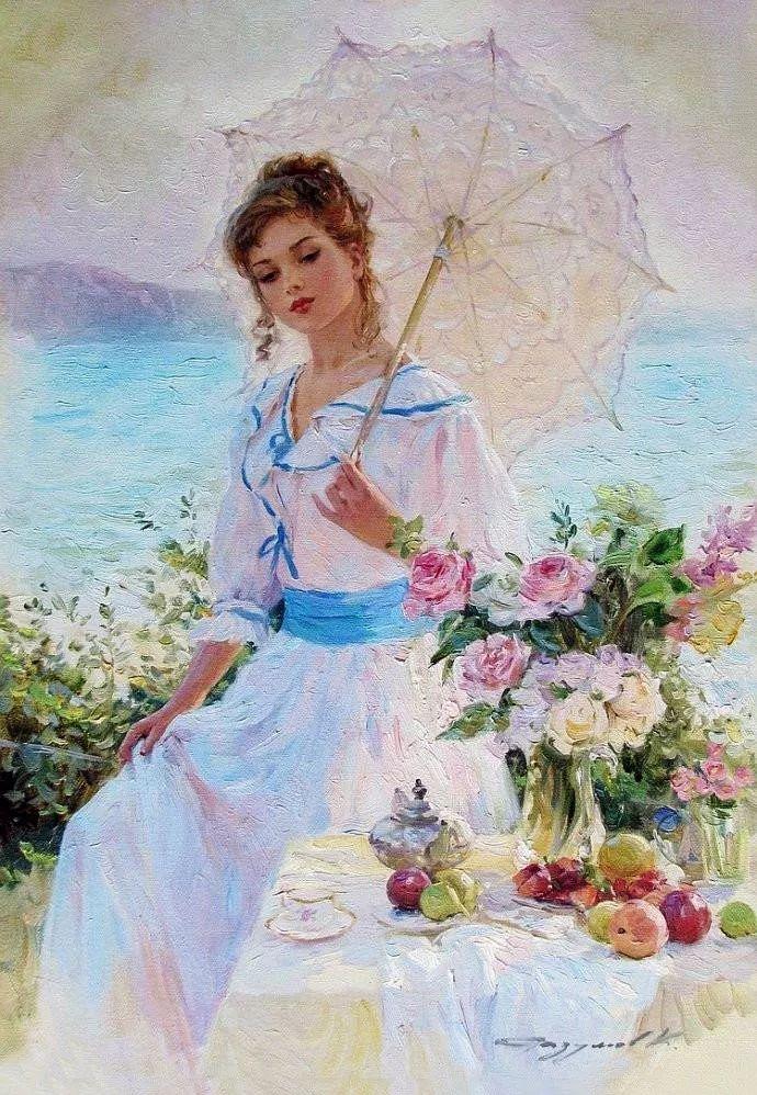 三位画家对女性的美诠释:或温婉含蓄,或妩媚娇艳,或律动健康插图2