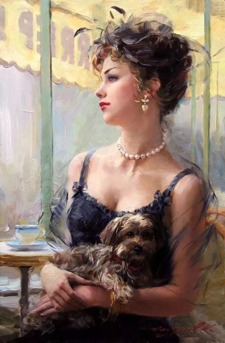 三位画家对女性的美诠释:或温婉含蓄,或妩媚娇艳,或律动健康插图3