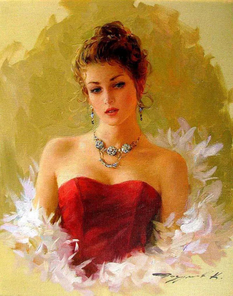 三位画家对女性的美诠释:或温婉含蓄,或妩媚娇艳,或律动健康插图4