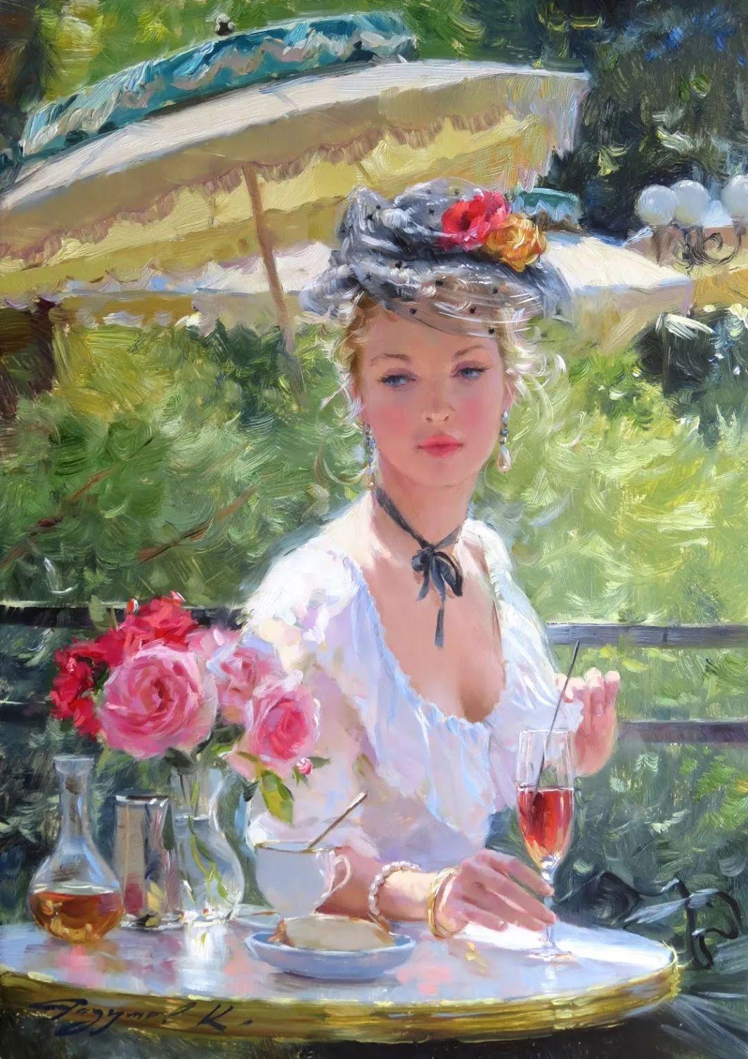 三位画家对女性的美诠释:或温婉含蓄,或妩媚娇艳,或律动健康插图5