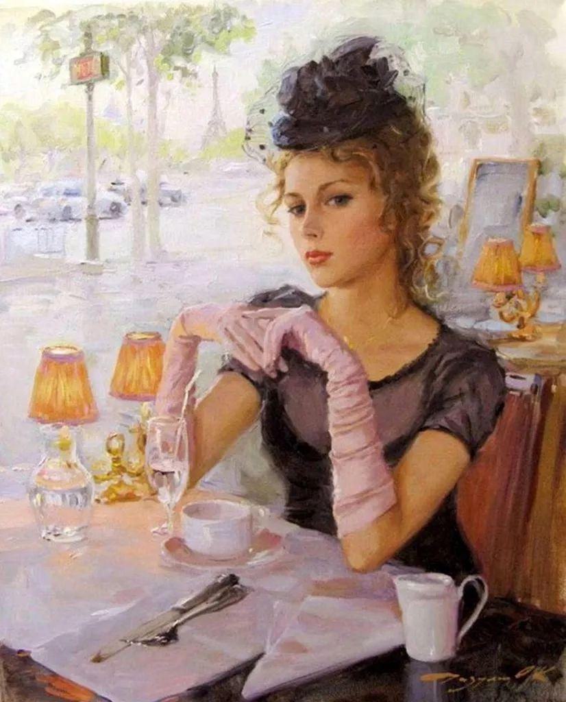 三位画家对女性的美诠释:或温婉含蓄,或妩媚娇艳,或律动健康插图6