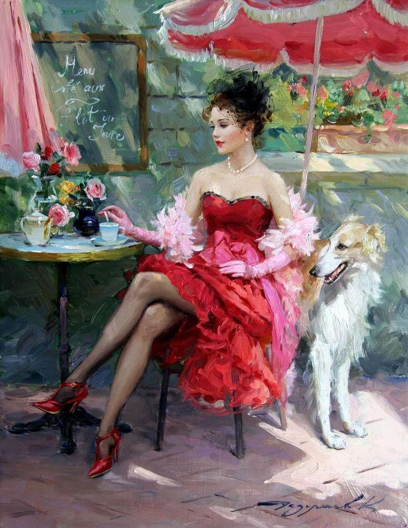 三位画家对女性的美诠释:或温婉含蓄,或妩媚娇艳,或律动健康插图7