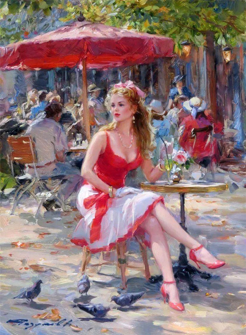 三位画家对女性的美诠释:或温婉含蓄,或妩媚娇艳,或律动健康插图8