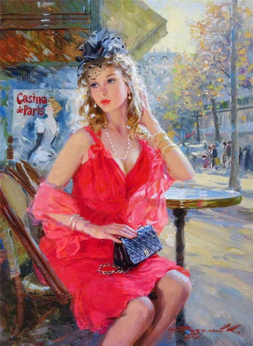 三位画家对女性的美诠释:或温婉含蓄,或妩媚娇艳,或律动健康插图9