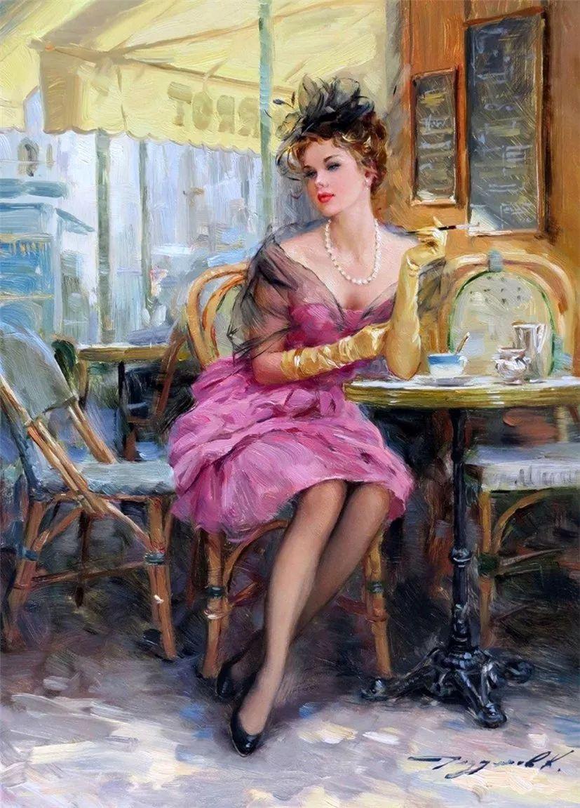 三位画家对女性的美诠释:或温婉含蓄,或妩媚娇艳,或律动健康插图11