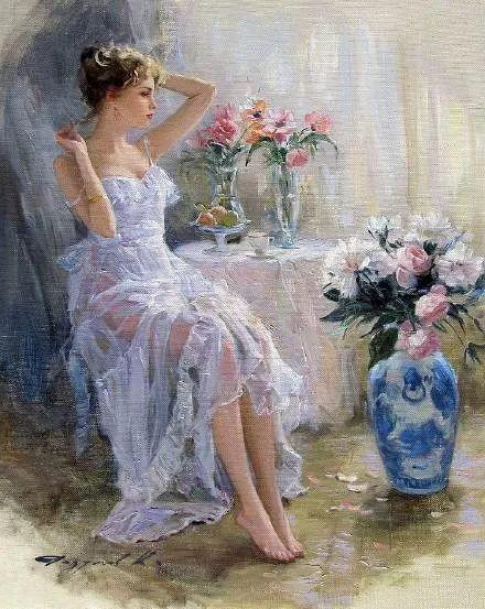 三位画家对女性的美诠释:或温婉含蓄,或妩媚娇艳,或律动健康插图12