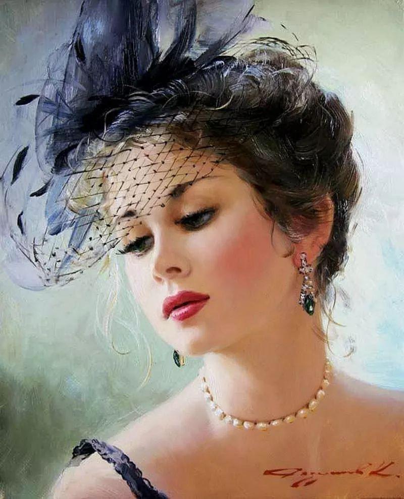 三位画家对女性的美诠释:或温婉含蓄,或妩媚娇艳,或律动健康插图13