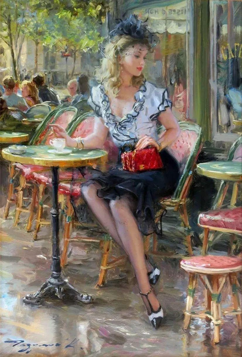 三位画家对女性的美诠释:或温婉含蓄,或妩媚娇艳,或律动健康插图14
