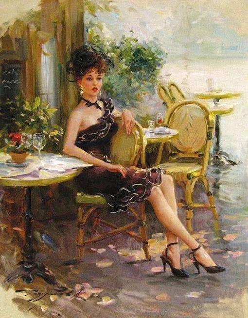 三位画家对女性的美诠释:或温婉含蓄,或妩媚娇艳,或律动健康插图15