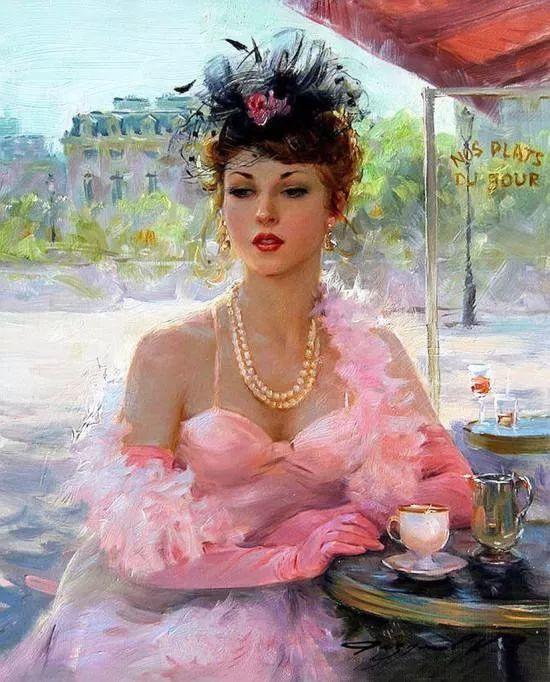 三位画家对女性的美诠释:或温婉含蓄,或妩媚娇艳,或律动健康插图16