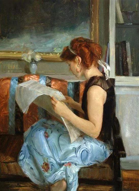 三位画家对女性的美诠释:或温婉含蓄,或妩媚娇艳,或律动健康插图37