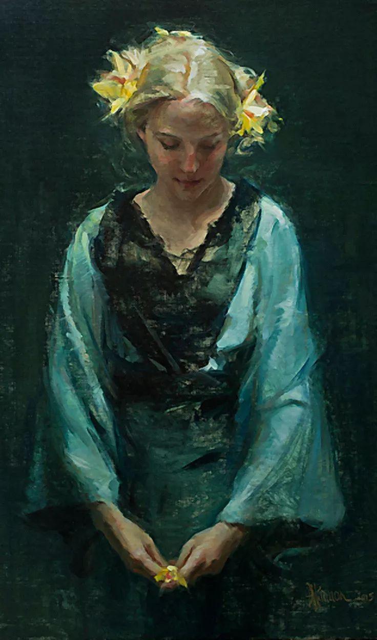 三位画家对女性的美诠释:或温婉含蓄,或妩媚娇艳,或律动健康插图38