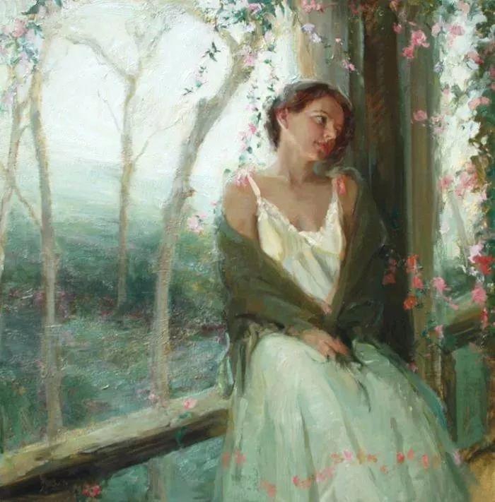 三位画家对女性的美诠释:或温婉含蓄,或妩媚娇艳,或律动健康插图41