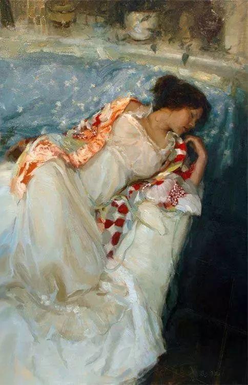 三位画家对女性的美诠释:或温婉含蓄,或妩媚娇艳,或律动健康插图43