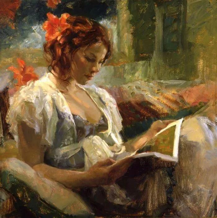 三位画家对女性的美诠释:或温婉含蓄,或妩媚娇艳,或律动健康插图46
