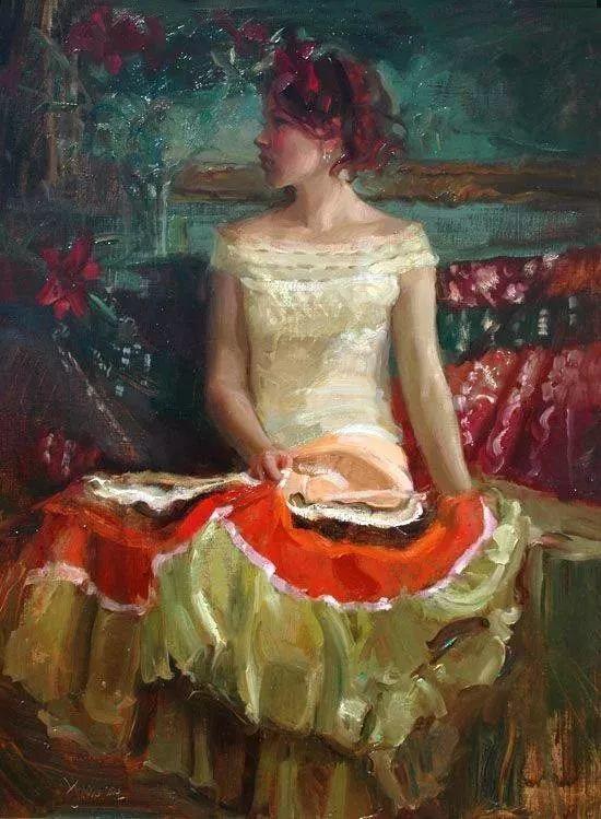 三位画家对女性的美诠释:或温婉含蓄,或妩媚娇艳,或律动健康插图47