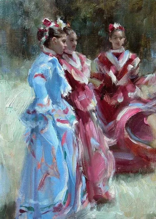 三位画家对女性的美诠释:或温婉含蓄,或妩媚娇艳,或律动健康插图48