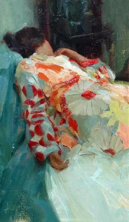 三位画家对女性的美诠释:或温婉含蓄,或妩媚娇艳,或律动健康插图52