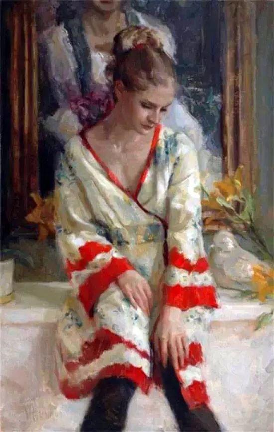 三位画家对女性的美诠释:或温婉含蓄,或妩媚娇艳,或律动健康插图55