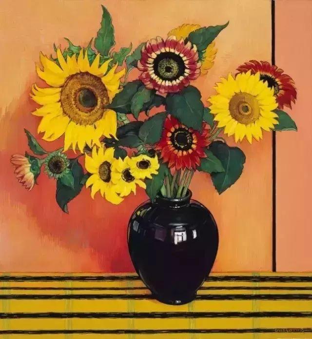 她72岁,画了50多年的画,花儿在她笔下都有了个性!插图