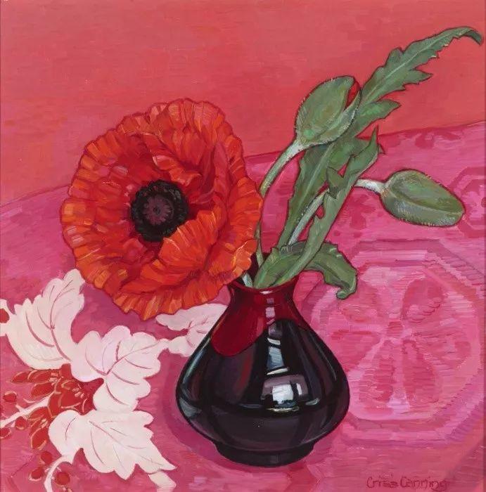 她72岁,画了50多年的画,花儿在她笔下都有了个性!插图10