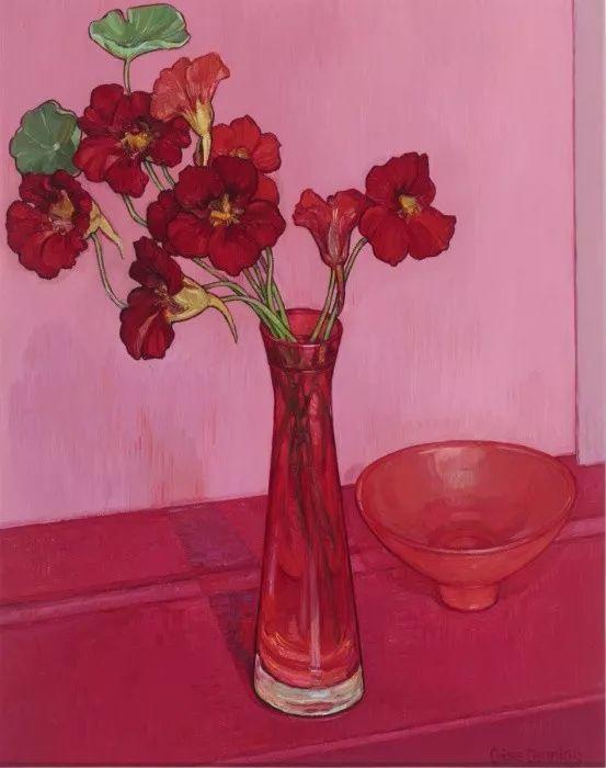 她72岁,画了50多年的画,花儿在她笔下都有了个性!插图11