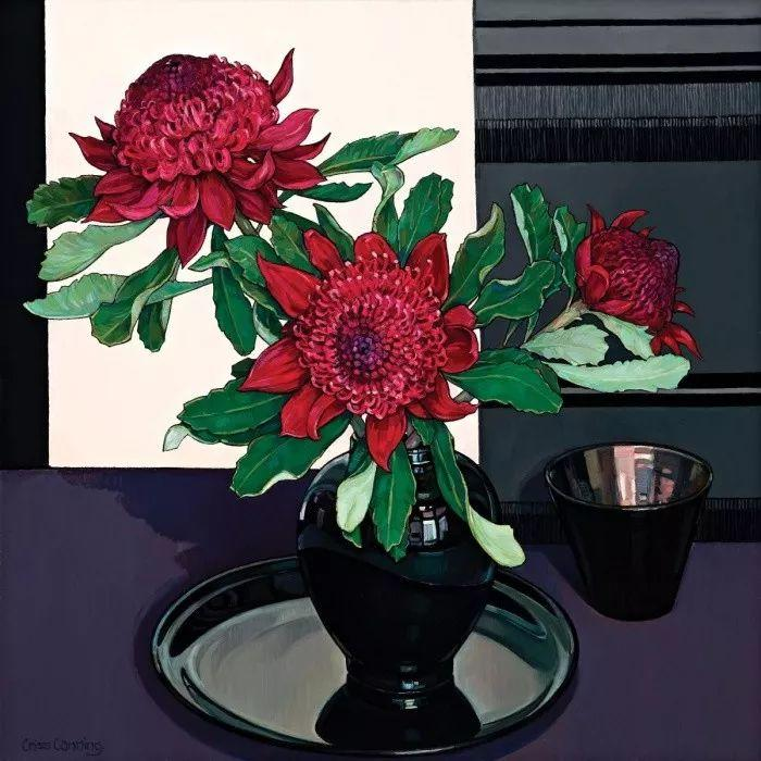 她72岁,画了50多年的画,花儿在她笔下都有了个性!插图16