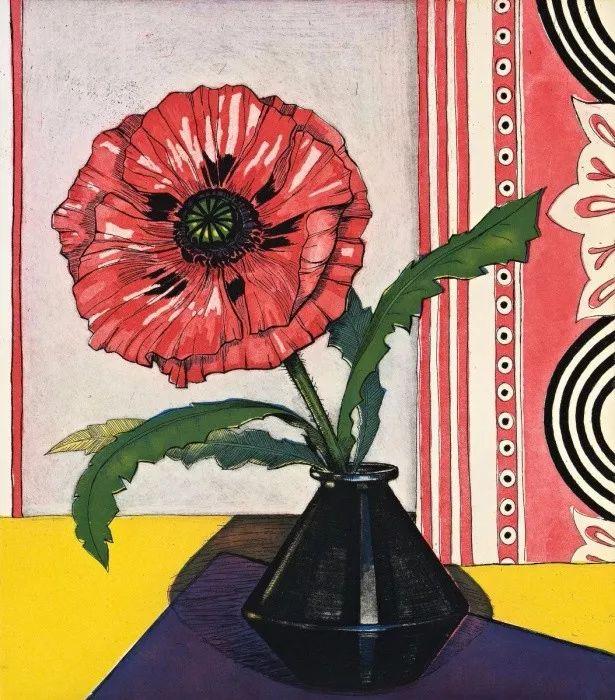 她72岁,画了50多年的画,花儿在她笔下都有了个性!插图34