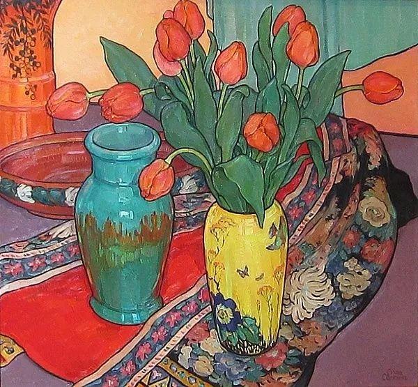 她72岁,画了50多年的画,花儿在她笔下都有了个性!插图37