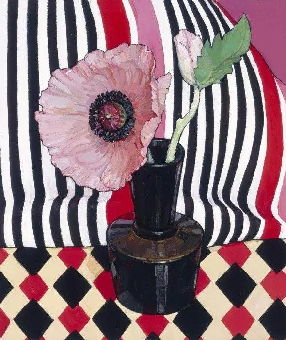 她72岁,画了50多年的画,花儿在她笔下都有了个性!插图48